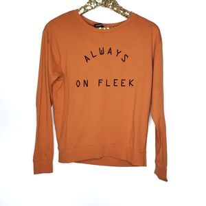 H&M Always on Fleek Graphic Sweatshirt Orange Sm